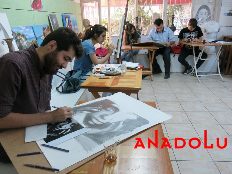 Hobi Grubu Karakalem Çalışmaları Çukurova