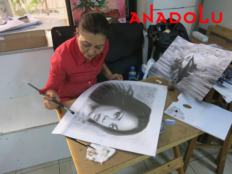 Hobi Dersleri Karakalem Çalışması Çukurova