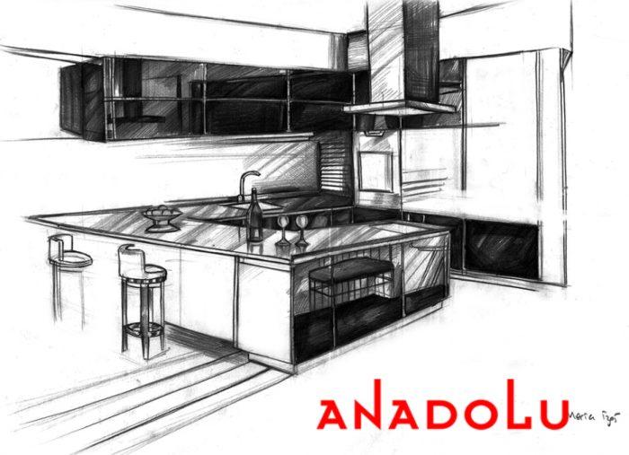 karakalem Mutfak Çizim Örnekleri İstanbul