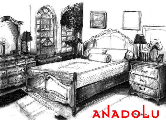 İstanbul Bir Yatak Odası Çizimleri