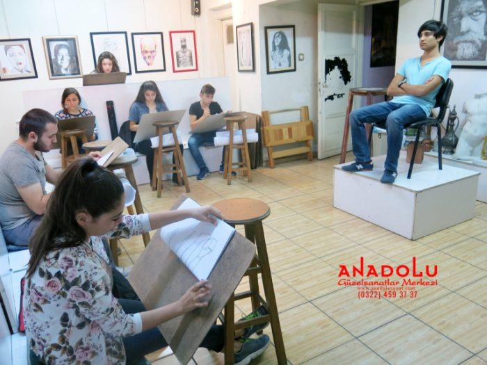 Anadolu Güzel Sanatlarda Resim Kursları Devam Etmekte İstanbul