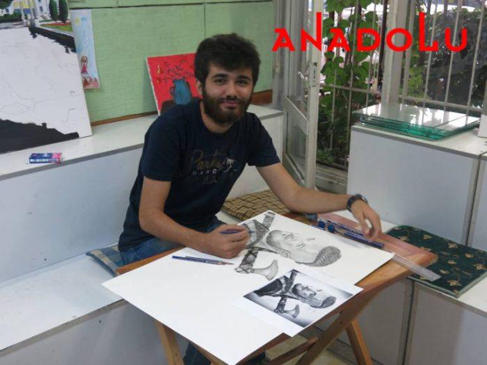 Karakalem Çalışan Hobi Grubu Çizimleri İstanbul